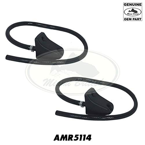 LAND ROVER HEADLAMP WASHER JET HOSE NOZZLE SET x2 DISCOVERY 2 II 99-02 AMR5114 OEM by Miami British