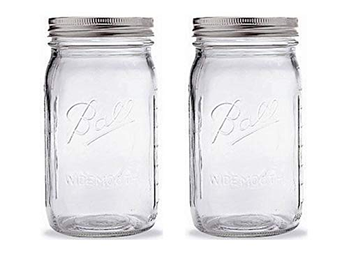 (Ball Quart Jar with Silver Lid, Wide Mouth, Set of)