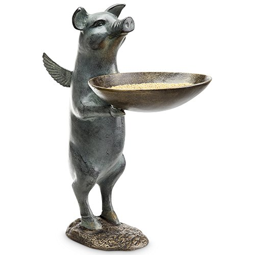 Winged Pig Decorative Bird Feeder