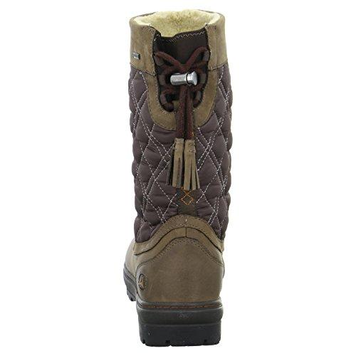 ClarksIcey Mid GTX - botas de nieve Mujer Marrón - marrón (Ebony Leather)
