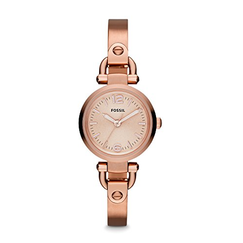 Fossil Women's ES3268 Georgia Rose Gold-Tone Stainless Steel Bangle Watch