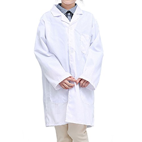 CLanItris America Kids Unisex Doctor Lab Coat for Scientist Role Play Costume Set - Soft Touch (X-Large,White) by CLanItris (Image #1)