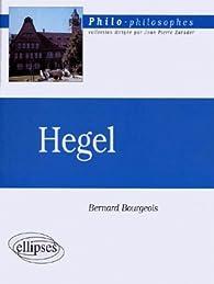 Hegel par Bernard Bourgeois