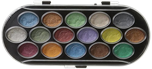 Pearlescent Watercolor Paint Pkg Assorted Colors product image