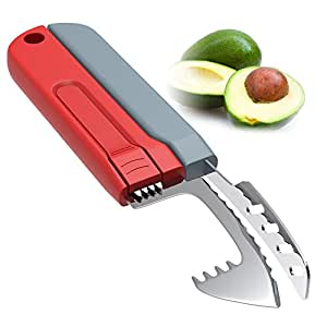 Tonicstar 5-in-1 Avocado Slicer Tools with Premium Quality Stainless Steel Blade, Easy Handle, Use as Slicer, Cutter, and Pitter