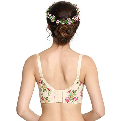 Nude Erect Point Massage Nursing Steel Ring No Cotton Anti Super Flower Bra glare Hexingshan qfOXBxPwB