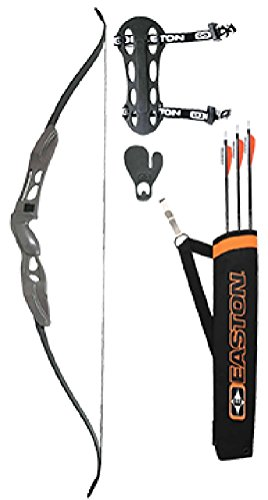 Easton Youth Beginner Recurve Bow Kit, Black, 10-20-Pound