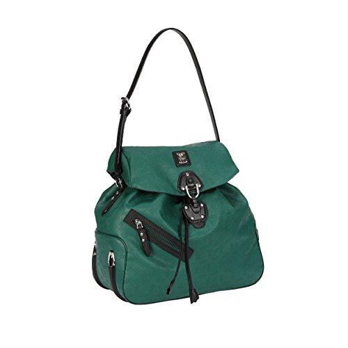 piero guidi Borsa a tracolla regolabile - Bolso cruzados de Material Sintético para mujer Verde Verde Pino Grande 39X35X19