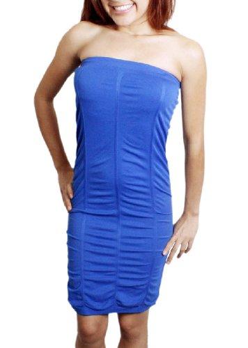 Vestito Spalline Delle Donne Di Senza Soluzione Il Di S M Formato Un Montato Blu Mini Continuità L Senza Misura dzqXxpwp
