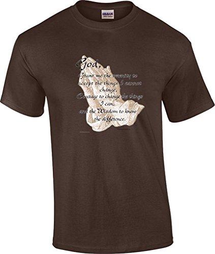 T-ShirtQueen Men's Christian Serenity Prayer Religious T-Shirt X-Large (Serenity Prayer T-shirt)