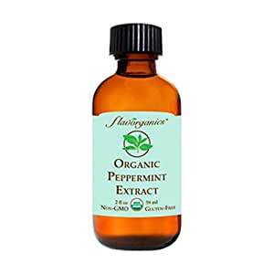 Flavorganics Organic Peppermint Extract, 2-Ounces Glass Bottles (Pack of 3)