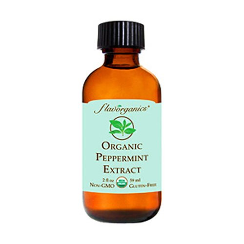 (Flavorganics Organic Peppermint Extract, 2-Ounces Glass Bottles (Pack of 3))