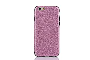"""Generic Magnetic Glitter Coated Bling Back Case PU Leather Case Cover for iPhone 6 4.7""""-Pink"""