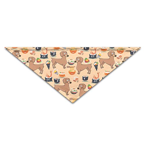 OLOSARO Dog Bandana Dachshund and Sushi Triangle Bibs Scarf Accessories for Dogs Cats Pets Animals ()