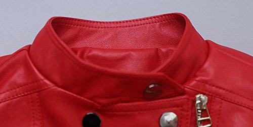 65d14a034 Otoño Ropa Chaqueta Niños Niñas Outwear Bebé De Cuero Rojo Primavera Zodof  Abrigo Uxqgw5Oaq