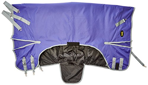 GATSBY LEATHER COMPANY 284258 Gatsby Premium 1200D Medium Weight Turnout Blanket Purple/Silver, 78
