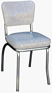 Richardson Seating Cracked Ice Retro Chrome Kitchen Chair with 2  Box Seat ... & Amazon.com - Retro Style Chairs Set of 4 - Chairs