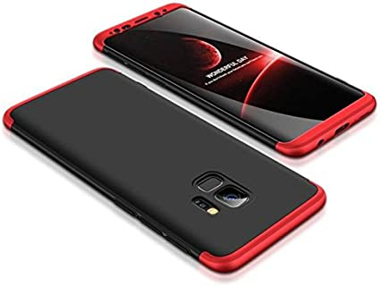 release date 61c1f 630f4 Lofad Case Shockproof 3 in1 Full Body Protection ipaky Back Cover case for  - Samsung Galaxy J6 - Black & red