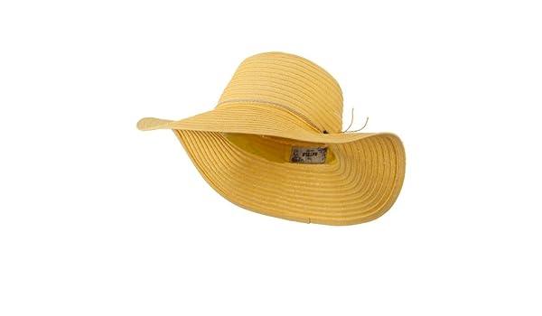 befab4669d755 Coconut Band Floppy Hat - Yellow OSFM at Amazon Women s Clothing store  Sun  Hats