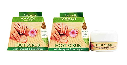 Foot Scrub Cream for Calloused and Dry Feet - Natural, Anti-fungal Callus Remover and Therapeutic Exfoliator - Fast Absorbing. Exfoliant Dead Foot Tissues & Rejuvenates the Rough & Damaged Foot (Lemongrass Scented Body Scrub)