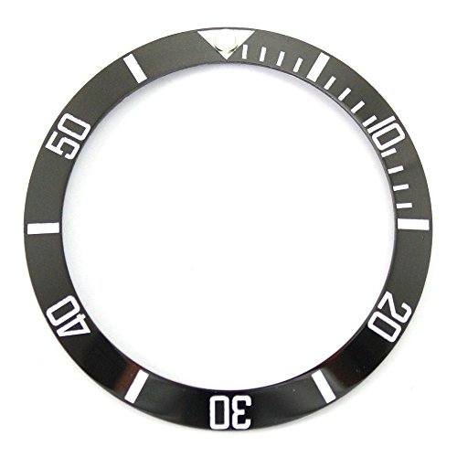 Bezel Insert To Fit Rolex Men's Submariner - Black / White Ceramic