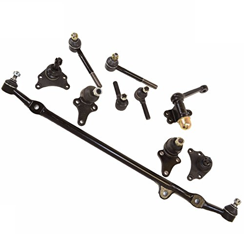 Pickup Center Link - 10 PC Kit Ball Joints Tie Rod End Idler Arm Center Link Toyota 2WD Pickup 84-88