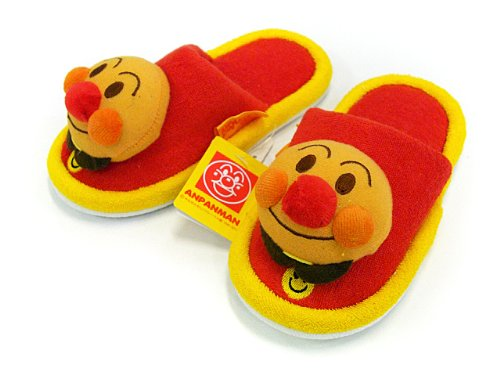Anpanman baby slippers red ~ yellow / image 1 by sleep god