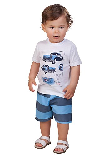 d1c4a78da934 Pulla Bulla Baby Boy 2-Piece Set Shirt and Shorts Outfit