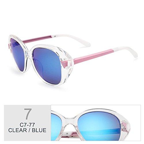 Blue Plata El Por TIANLIANG04 Clear Gafas Gato Uv400 Ojo Mujeres De Negro Don Señor Vintage De Al wg6wBqHna4
