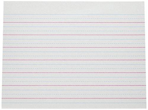 PACON Multi-Program Handwriting Paper, 5/8 inch Long Rule, 10-1/2 x 8, White, 500 Shts/Pk