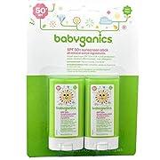 Babyganics - SPF 50+ Mineral Sunscreen Stick - 0.47 Ounce - Pack of 2