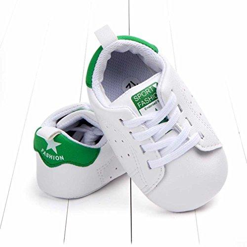 MuSheng Outdoor Laufschuhe Kinder Hausschuhe Kinder für Baby Jungen Weiß Grün