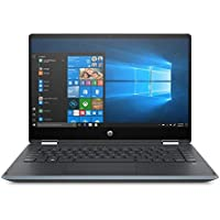 "HP Pavilion x360 14-dh0000ne Convertible Laptop, Intel Core i3 8145U 2.1 GHz Processor, 14"" Inch FHD Touchscreen, 256 GB HDD, 4 RAM, UHD 620 Graphics, English - Arabic Keyboard Win 10, Silver Notebook"
