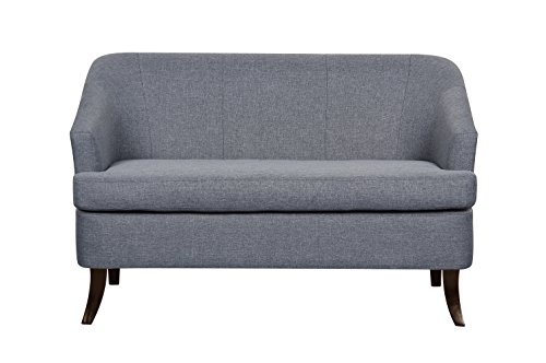 US Pride Furniture S5230 Modern Fabric Loveseat with Wood Legs