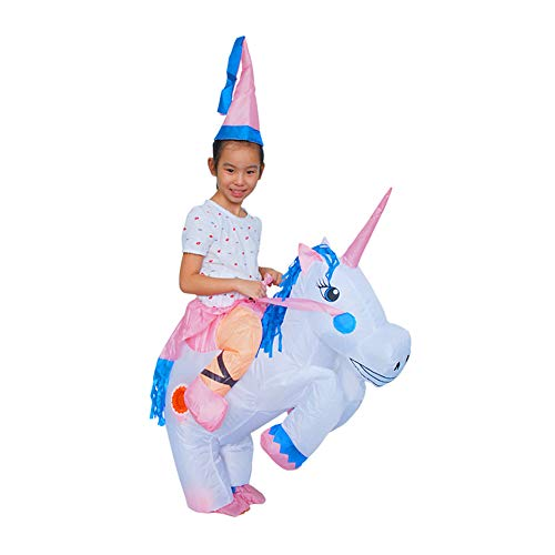 Halloween Inflatable Kids Child Unicorn Costume Fancy Riding Horse Half Body Suit (Child) for $<!--$27.99-->