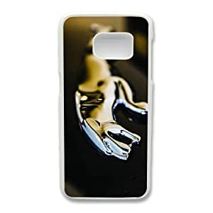 Generic hard plastic Jaguar Logo Cell Phone Case for Samsung Galaxy S7 Edge White ABC83