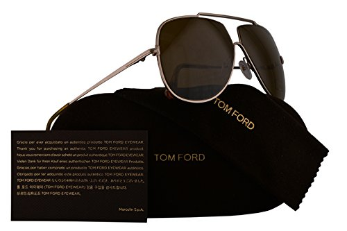 Tom Ford FT0586 Chase-02 Sunglasses Shiny Rose Gold w/Brown Lens 28E TF586 - Tom Sale Aviators Ford