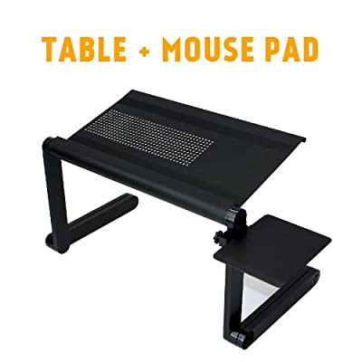 iCraze Adjustable iPad Laptop Table Laptop Computer Desk Portable Bed Tray Book Stand Multifuctional & Ergonomics Design