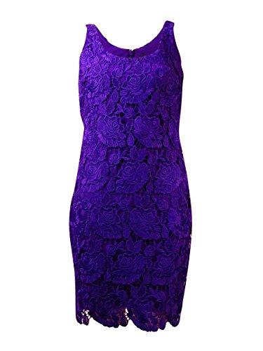 Lauren Ralph Lauren Womens Lace Sleeveless Cocktail Dress Purple 4 (Lauren Lace Spring Ralph)