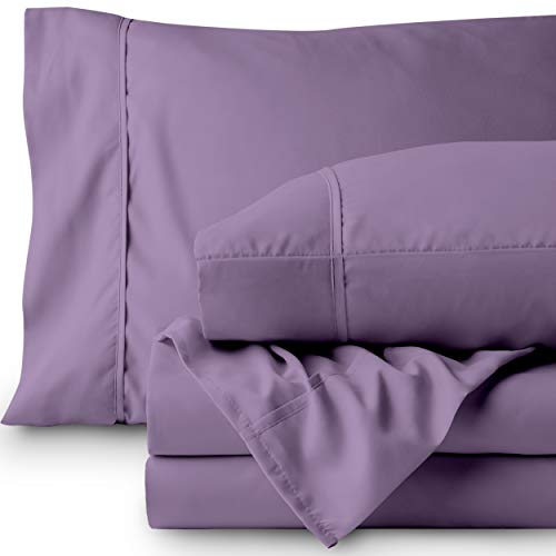 Bare Home Premium 1800 Ultra-Soft Microfiber Sheet Set Twin Extra Long - Double Brushed - Hypoallergenic - Wrinkle Resistant (Twin XL, Lavender)