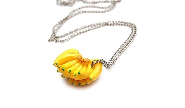 Plátanos camisa collar - Aprox 70 cm larga cadena - fruta plátano fiesta colgante: Amazon.es: Hogar