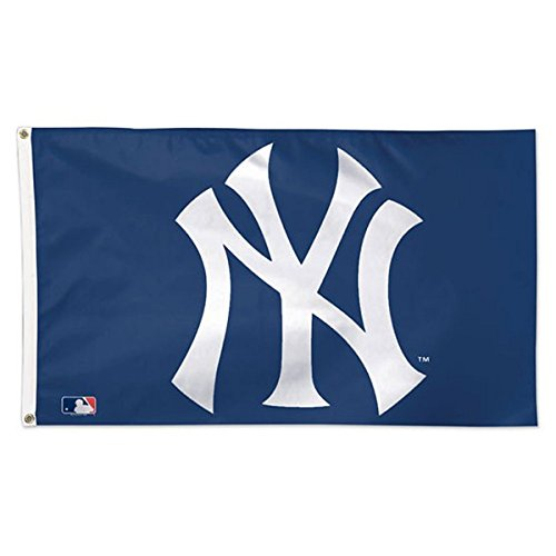 WinCraft MLB New York Yankees 01747215 Deluxe Flag, 3' x 5']()