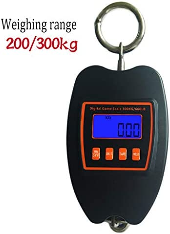 WZ Electronic Scales,Large Range 200/300kg Portable Hook Fishing Scale with Tape Measure Electronic Luggage Scale