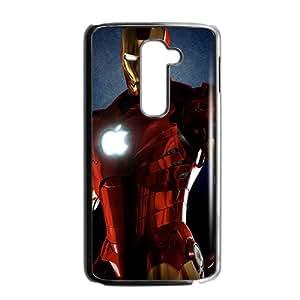 2015 Bestselling iron man movie Phone Case for LG G2 BLACK