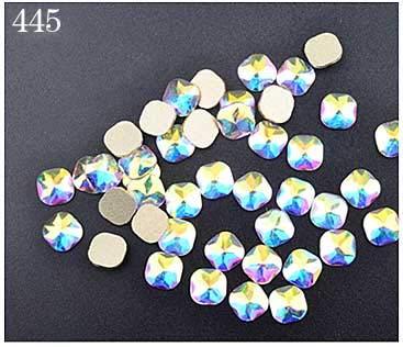 Nail Art Supplies - Nail Art Rhinestones 5pcs Oval Shaped Flat AB Rhinestone Shiny Nail Decorations DIY Beauty Nail Jewelry And Decorations Rhinestones For Nails - 445 (Pen Daisy Beaded)