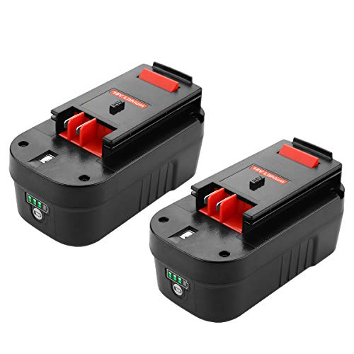 - ANTRobut 2 Pack Upgraded 5000mAh HPB18-OPE Lithium and NiCad Replacement for Black and Decker 18 Volt Battery HPB18-OPE 244760-00 A1718 FS18FL FSB18 Black Decker 18V Battery