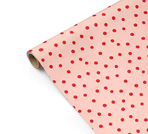 Blush Polka Dot Gift Wrapping Paper - Valentines Day, Mothers Day, Red, Pink, Baby Shower, Birthday, Bridal Shower, Wedding, Christmas, Modern, Girl, Scrapbooking, Craft Paper from The Eclectic Chic Boutique