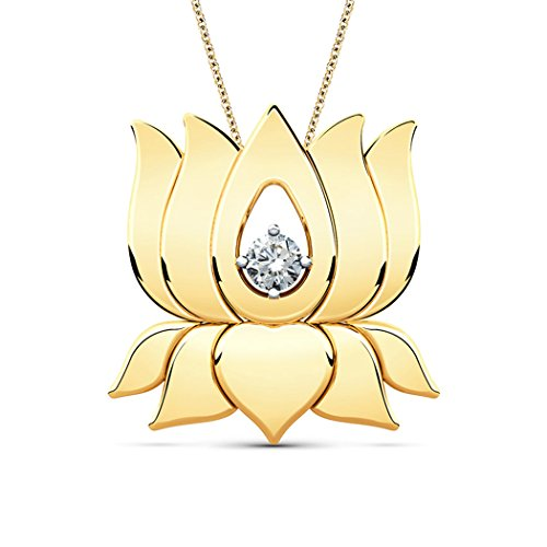 18K Or Blanc 0,02ct tw Round-cut-diamond (IJ | SI) Pendentif