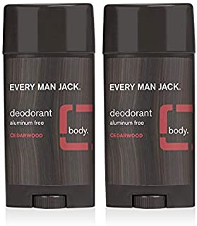 product image for Every Man Jack Deodorant - Cedarwood | 3-ounce Twin Pack - 2 Sticks Included | Naturally Derived, Aluminum Free, Parabens-free, Pthalate-free, Dye-free, and Certified Cruelty Free