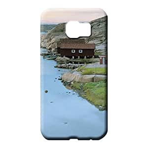 samsung galaxy s6 Durability Defender Awesome Phone Cases mobile phone carrying cases fishing cabins on a swedish river